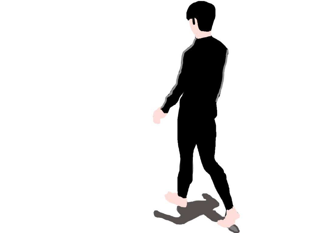 歩く男の人のイラスト